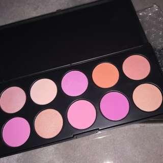 10 Colors Professional Powder Blusher Palette