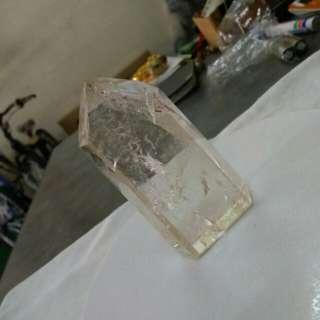 天然白水晶柱 7.5 cm