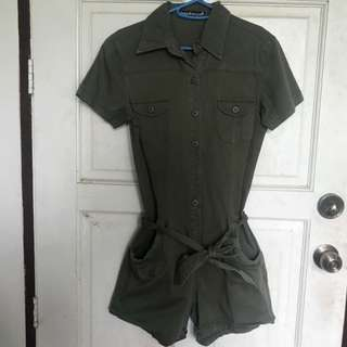 Rough Rider Jeans Army Green Jumpshort