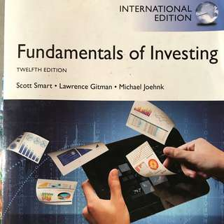 Fundamental of Investing 12th Edition