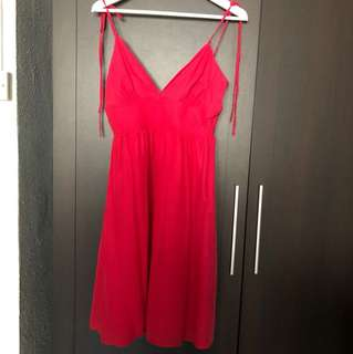 DKNY Jeans Hot Pink Red Fuchsia Dress