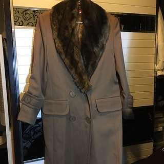 韓國風 直身 卡奇色 大褸 外套 coat jacket high fashion