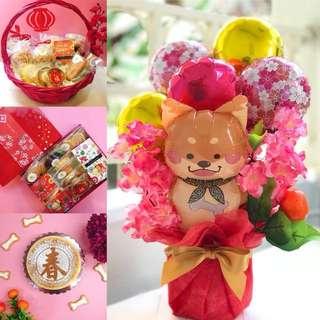 CNY balloon & cookies