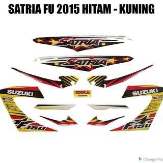 Striping Satria FU 2015 Hitam - Kuning