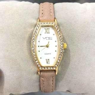 Jam tangan wanita Vincci vnc.. (beige, red)