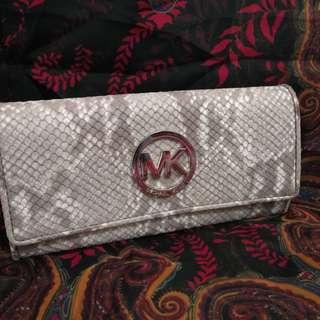 MK fulton wallet - Dk sand