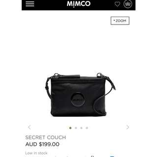 NEW WITH TAGS Mimco Black Hip Bag