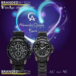 Jam Tangan Pasangan Alexandre Christie 6410 Black Bronze Gray / Alexandre Christie Couple 6410