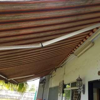 2 x Canopy sunshade