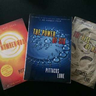 I Am Number Four, The Power of Six, The Rise of Nine (Pittacus Lore)