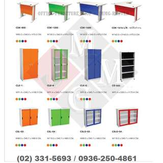 Colorful Tables and Cabinets ( Office Furniture )