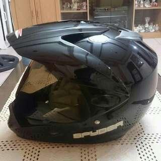 Spyder helmet motard black