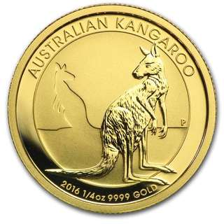 Selling 1/4 oz 2016 Gold Australian Kangaroo coin