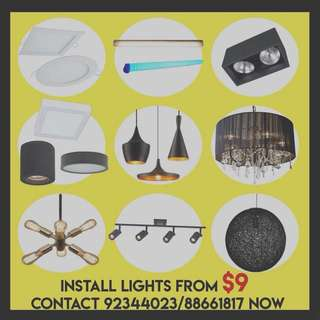 INSTALL FAN LIGHT PROMO ELECTRICAL SERVICES