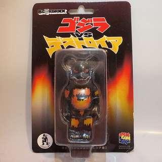 Medicom Godzilla Vs. Destroyah BE@RBRICK [Death Goji Burning Ver.] 100% Bearbrick