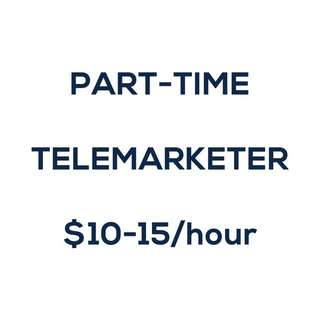 Part-Time Job – Telemarketer [$10-$15/h!]