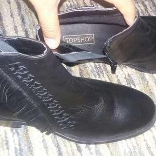 Topshop leather black boots original