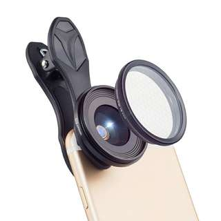 2-In-1 Smartphone Lens Kit - 20X Macro Lens, Star Filter (CVAIA-F026)