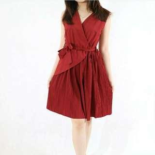 ZOEY Dress (NEW) / Dress Wanita / Dress Merah #CNY2018