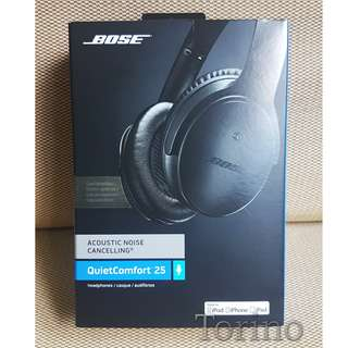 Bose QC 25 Black Noise-Cancelling headphone / headset
