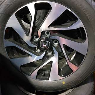 "Honda civic and Honda steam wheels ""16"