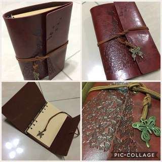 🚚 A6 size Vintage Note Book/Refillable/80 sheets of Notes/Free Delivery