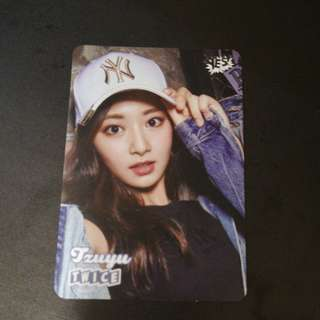 TWICE Zi Yu yes card