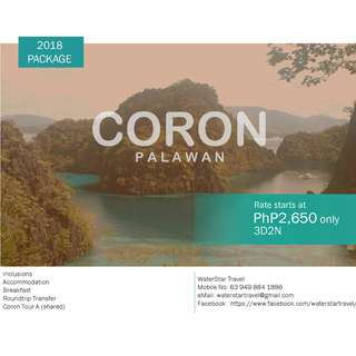 AFFORDABLE CORON, PALAWAN PROMO PACKAGE