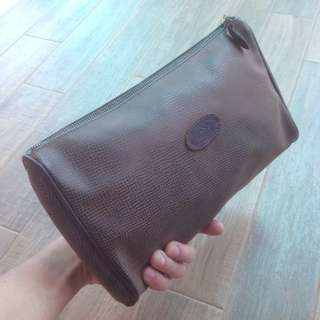 Vintage Genuine Leather Mulberry Company clutch bag purse England made