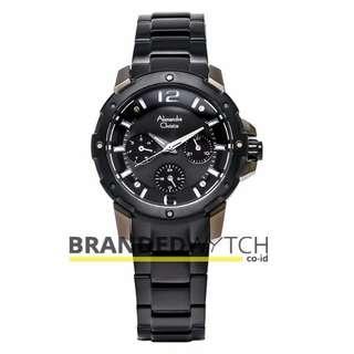 Jam Alexandre Christie Wanita 6410 BF Full Black  Bronze Gray / JAM TANGAN Wanita AC 6410 / Jam AC Sport