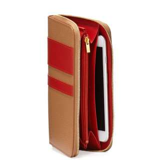 Long champ  le foulonne city zip around wallet