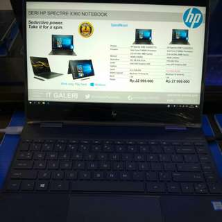 HP Seri Spectre X360 NoteBook Bisa kredit