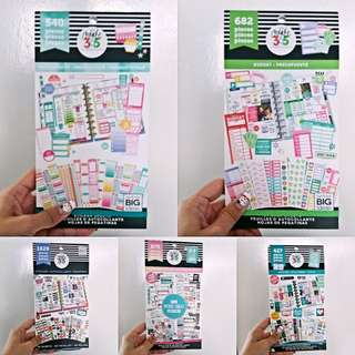 Instock! Happy Planner Value Stickers set