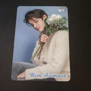 KIM SAMUEL yes card