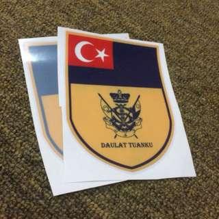 sticker kereta kemahkotaan dymm sultan johor