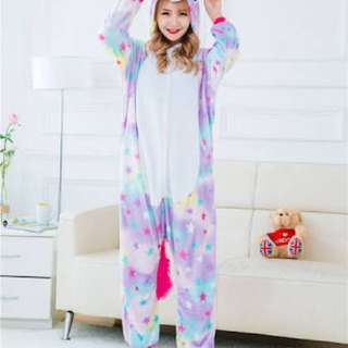 Star Unicorn Onesie With Footsie