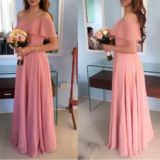 Blush pink gown for rent