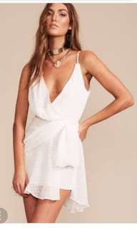 Lioness white assymterical dress size 8