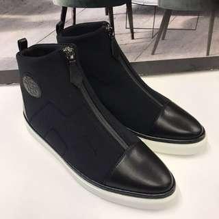全新Hermes Leather Ankle Shoes