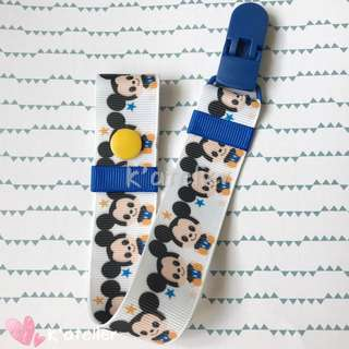 Mickey inspired Pacifier Clip