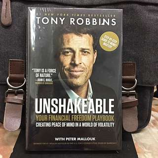 《Bran-New + 2017 Hardcover Edition + Step-By-Step Guide To Achieve Financial Freedom & Security》Anthony Robbins - UNSHAKEABLE : Your Financial Freedom Playbook