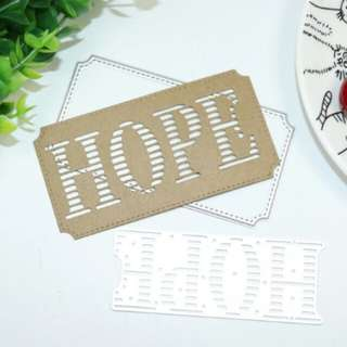 Bn 2pcs hope-label die