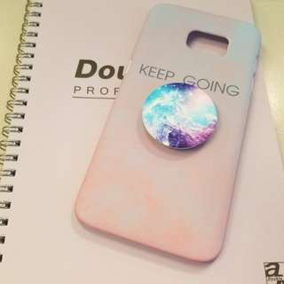 Samsung s7 edge phone case with popsocket