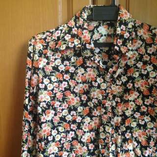 Floral Collared Shirt