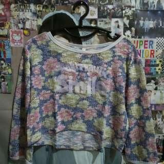Floral Crop Sweater