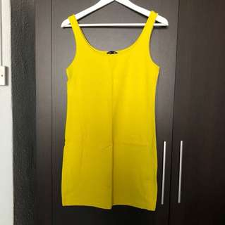 H&M Basic Mustard Bodycon Dress