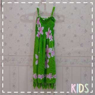 👗Green Beach Dress | Baju Pantai Hijau Anak