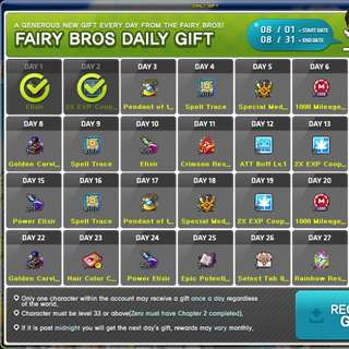 Maplesea Service: Unable to Collect Daily Gift?