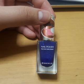 Miniso peel off nail polish in Jewelry Blue