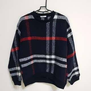 [百元]厚格紋上衣